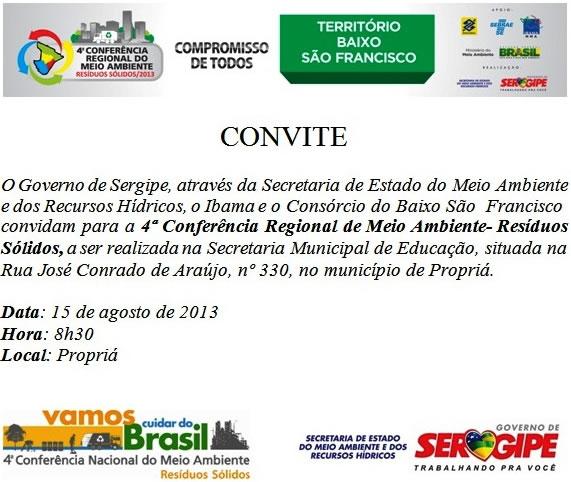 Convite Baixo Sao Francisco
