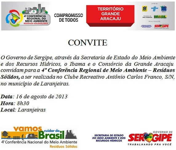 Convite Grande Aracaju